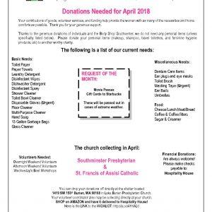 4 april donation needed list 2018 hospitality house